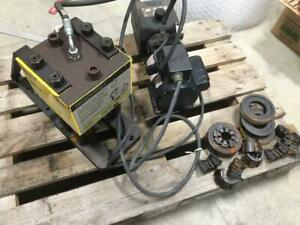 Exc Used Weatherhead Coll o crimp T 400 Hydraulic Hose Crimper Pump Collets