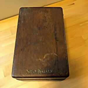 Vintage Shaw Walker Oak Box Index Card File Box Library Card Catalog Recipe Box