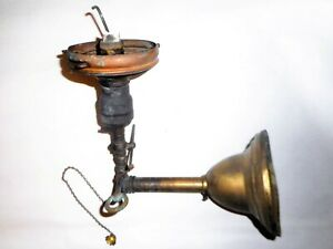 Antique Vintage Victorian Brass Gas Wall Sconce Lighting Fixture Ca 1900