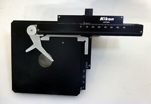 Nikon Microscope Xy Mechanical Stage Part From Model Sc Nice