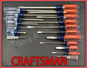 Craftsman Hand Tools 18pc Phillips Slotted Flat Blade Screwdriver Set