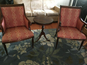 Pair Of Vintage Southwood Mahogany Armchairs Library Armchair Accent Chair