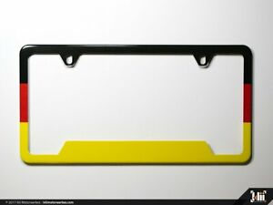 License Plate Frame N America German Flag Euro Volkswagen Vw Bmw Audi Porsche