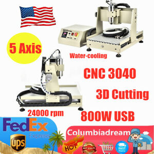 5 Axis 800w Usb Cnc 3040 Router Engraving Machine Engraver Milling 3d Cutting