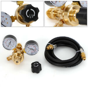 Argon Or Argon co2 Mix Regulator With 10 Fit Hose For Mig Tig Welding Brass Body