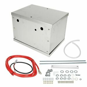 Complete Aluminum Battery Box Relocation Kit For 1979 2014 Ford Mustang