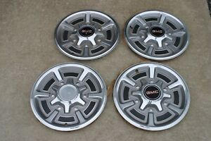 Nos 1974 1985 Gmc Pickup Truck Hubcaps 15 Wheel Covers 1 2 Ton C10 Chevrolet