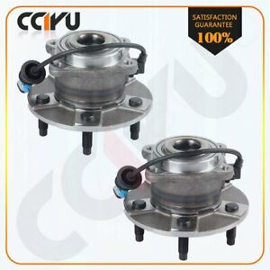 2 New Rear Complete Wheel Hub And Bearing Assembly For Equinox Torrent Vue 5 Lug