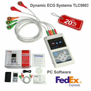 Us 24hour 3 Channel Ecg ekg Holter Monitor Recorder System Usb Software Analyzer