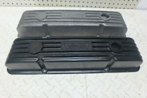 Vintage Weiand Chevy Sbc Aluminum Valve Covers For Small Block Chevy