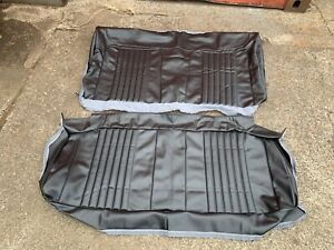 1970 Chevrolet Chevelle Rear Seat Upholstery Black Convertible 70