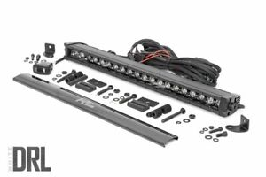 Rough Country 20 Black Series Single Row Cree Led Light Bar Drl