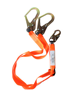 Unitysafe Fall Protection Safety Lanyard Double Leg 2 Rebar Hooks