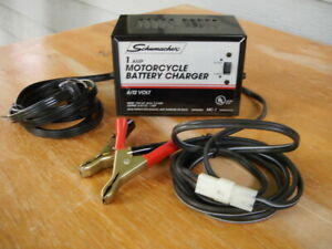 Motorcycle Trickle Charger Schumacher Mc 1 6volt 12volt 1 Amp Battery Charger