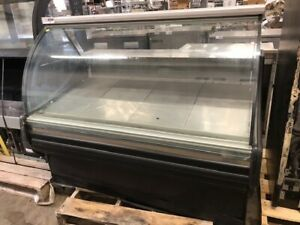 60 Curved Glass Refrigerated Display Case Deli Cooler
