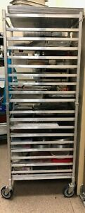 Stainless Steel Bakers Rack With Pans Heavy Duty On Wheels