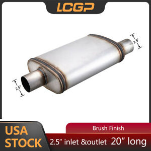 3 Performance Muffler Universal 3 Inch Inlet O C Oval Flow Exhaust Silencer