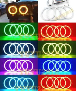 Rgb Halo Rings For Dodge Challenger 15 19 Car Headlight Led Lights Angel Eye Drl