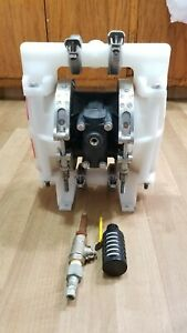 All flo 1 Polypropylene Air Operated Double Diaphragm Pump used Working