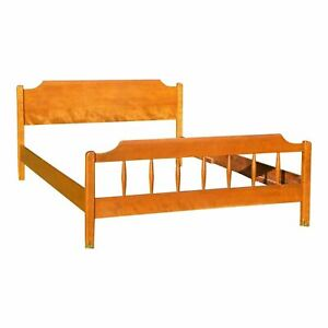 Vintage Ethan Allen American Traditional Full Double Bed Solid Maple Birch