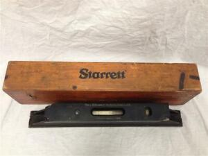 Vintage Starrett Master Precision Level No 199 With Wooden Case