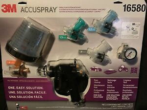 New Kit more Tips 3m 16580 Accuspray Spray Gun System Kit With Standard Pps Cup