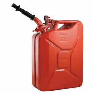 20l Cold rolled Plate Petrol Diesel Can Gasoline Bucket With Oil Pipe Red