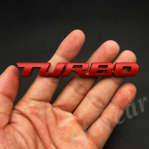 Red Metal Turbo T Car Auto Trunk Rear Tailgate Fender Emblem Badge Decal Sticker