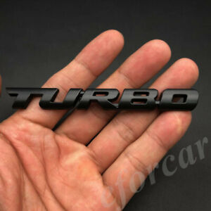 Black Metal Turbo T Car Auto Trunk Rear Tailgate Emblem Badge Decal Sticker