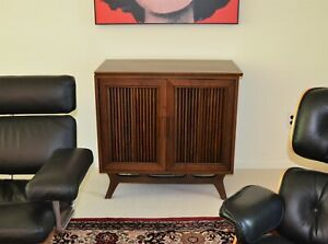 Vintage Rca Victor Stereo Cabinet Console Mcm Mid Century Modern