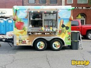 2012 8 X 10 Shaved Ice beverage Concession Trailer For Sale In Indiana