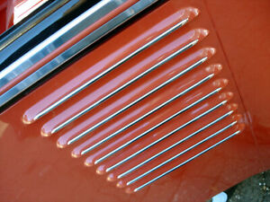 Vw Type 2 1955 1963 Bus Deluxe Microbus Side Louver Vent Stainless Trim Molding