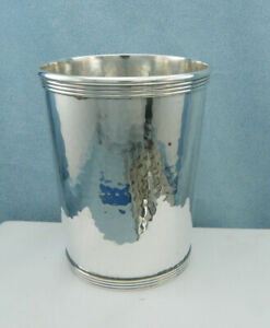Newport Sterling Silver Derby Mint Julep Cup Tumbler 1640 Hand Hammered No Mono