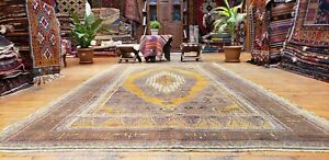 Exquisite Antique Cr1900 1939 S Muted Dye 5 9 10 10 Wool Pile Oushak Area Rug