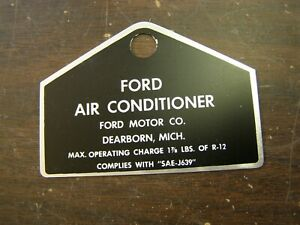 Nos Oem Ford 1965 1972 Ac Tag Mustang Torino Fairlane Galaxie 1969 1970 1971