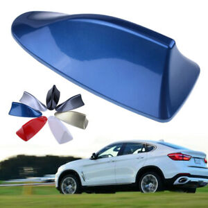 Universal Blue Car Auto Shark Fin Roof Antenna Dummy Fake Decorative Aerial