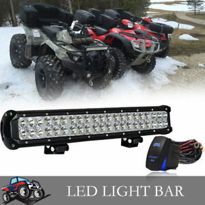 For Dodge Ram Atv On Front Bumper Roof 20 Inch Led Light Bar wiring Switch