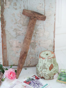 Old Vintage Antique Wood French Dibble Bulb Garden Potting Shed Decor Photo Prop