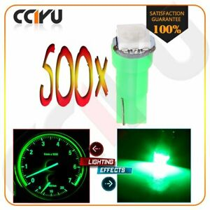 500x T5 Wedge 1 5050smd Instrument Gauge Dash Indicator Led Lights Bulbs Green