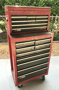Vintage 1970 s Classic Craftsman Mechanics Rolling Tool Cabinet
