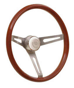 Gt Performance Gt Retro Light Wood Steering Wheel 15 In Od P N 36 5457