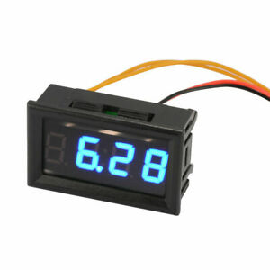 Yb27t Blue Automotive Electronic Clock Car Led Digital Luminous Date Timer