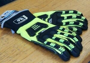 new Pyramex Cut Resistant Ultra Impact Metacarpal Safety Gloves M L Xl