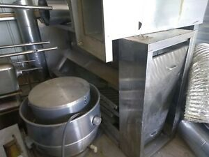 restaurant Exhaust Hood Model Sas10 With Roof Vent All Piping Grease Traps