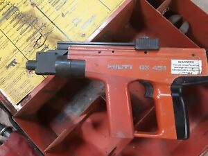 Hilti Dx451 Powder Actuated Fastening Tool W Case And 50 Boxs Of Fastners