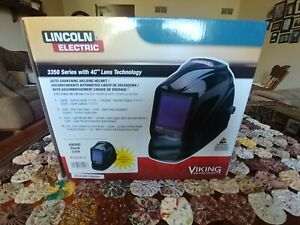 Lincoln Electric K3034 3 Viking 3350 Auto Darkening Welding Helmet Black