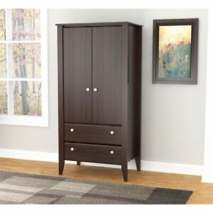 Inval Two Door Two Drawer Espresso Wardrobe Armoire