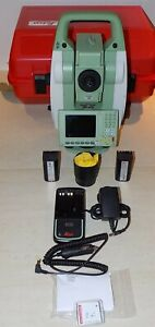 Leica Total Station Ts12 P R400 5 Calibrated Free Shipping