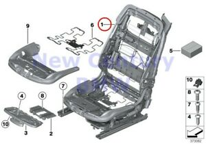Bmw Genuine Seat Front Seat Frame Left Comfort Seat Seat Mech Assembly F06 F06n