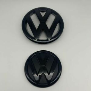 Glossy Black Front And Rear Badge Emblem For Vw Jetta Sedan 2011 14 Mk6